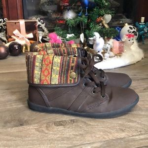 WORN ONCE! Stylish Brown Booties By Comfort View!